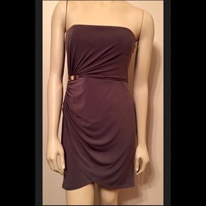 Max and Cleo Strapless Mocha Taupe Dress Size 6
